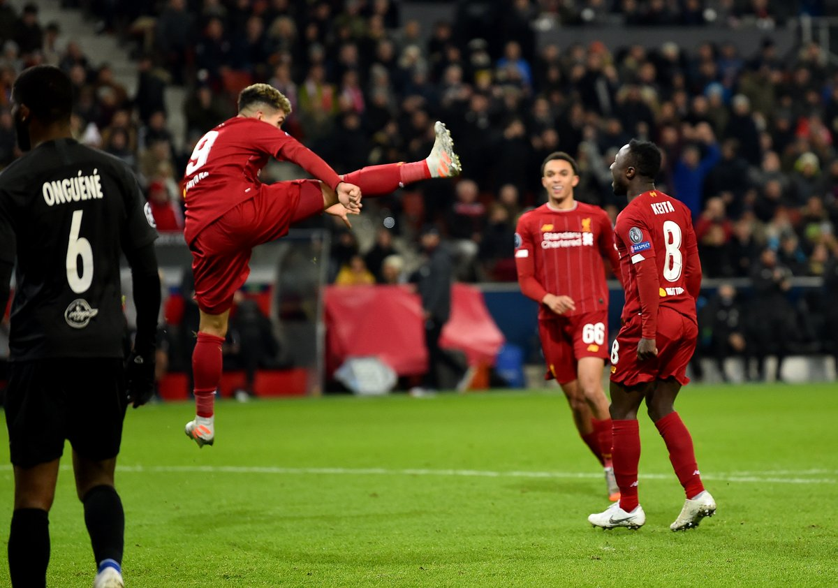 The best snaps as Liverpool beat Salzburg to reach Champions League last 16