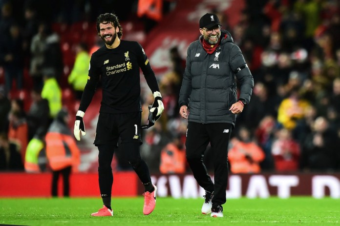 Jürgen Klopp and Alisson
