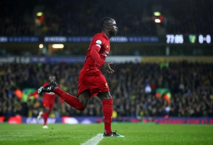 Sadio Mane Goal vs Norwich
