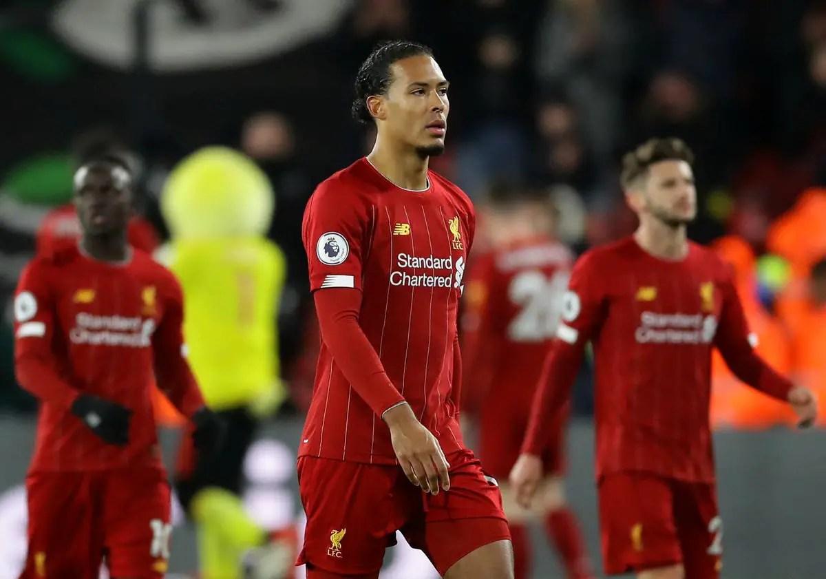 """Virgil van Dijk blasts """"unacceptable"""" defeat as Liverpool's unbeaten run ends"""