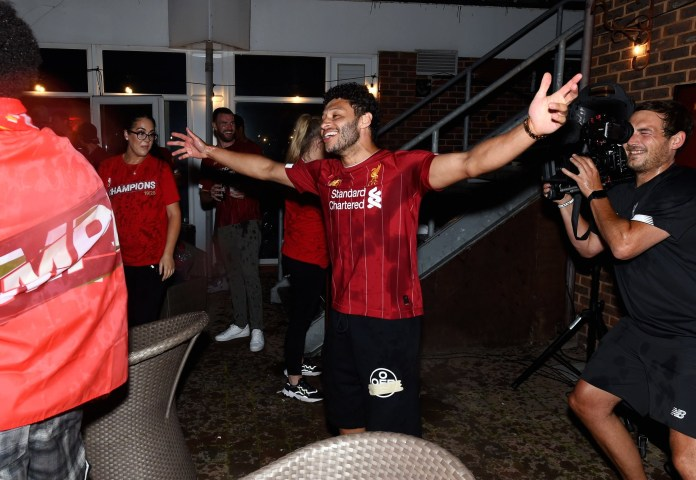 Liverpool Players' Premier League Title Celebrations