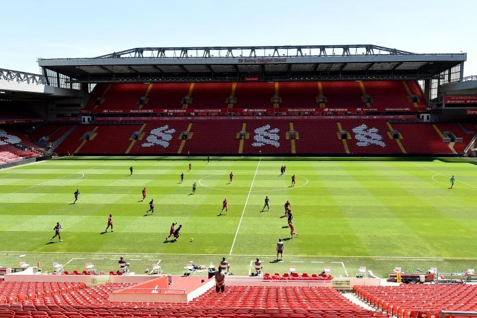 Liverpool Training at Anfield