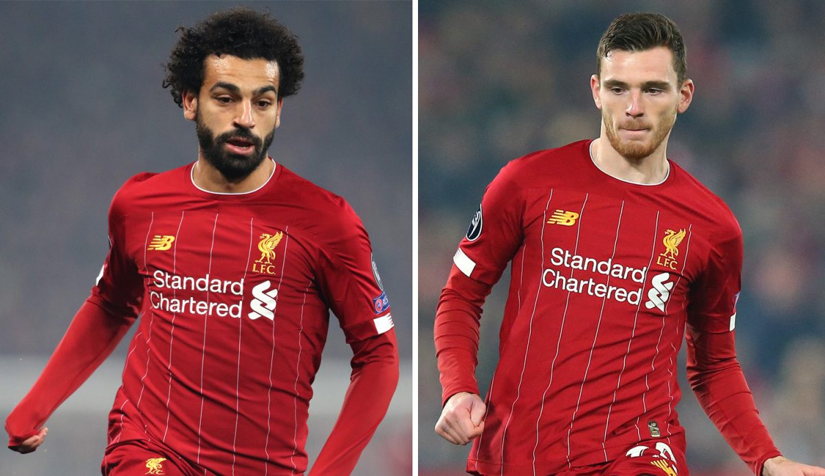 Mohamed Salah and Andy Robertson to be back in contention vs Crystal Palace