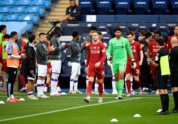 Man City vs Liverpool - Guard of Honour