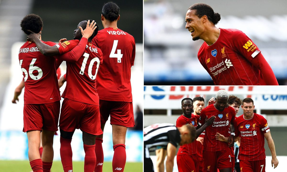 The best photos as title-winning Reds finish season with Newcastle win