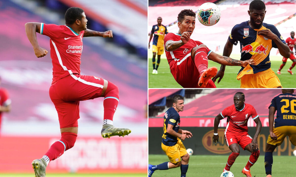 In Photos: Brewster brace saves Liverpool's blushes in final pre-season clash