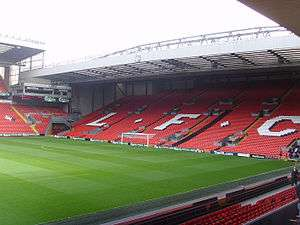 The modern-day Kop end