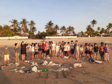 Nature and awareness trip to Ngwe Saung with primary school students