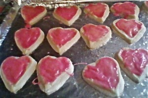 heart shaped sugar cookies