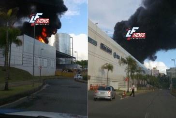 Incêndio atinge Shopping Bela Vista