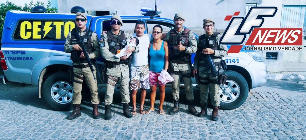 Policiais militares salvam bebê no município de Itaberaba