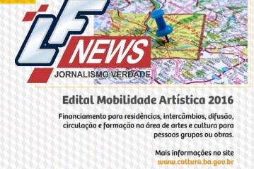 Abertas as inscrições para 3ª chamada do Edital Mobilidade Artístico-Cultural