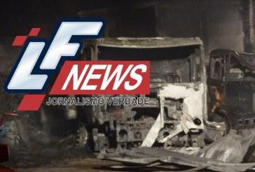Caminhões são incendiados em garagem de transportadora em Candeias