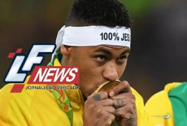 Faixa '100% Jesus' de Neymar cai na mira do COI