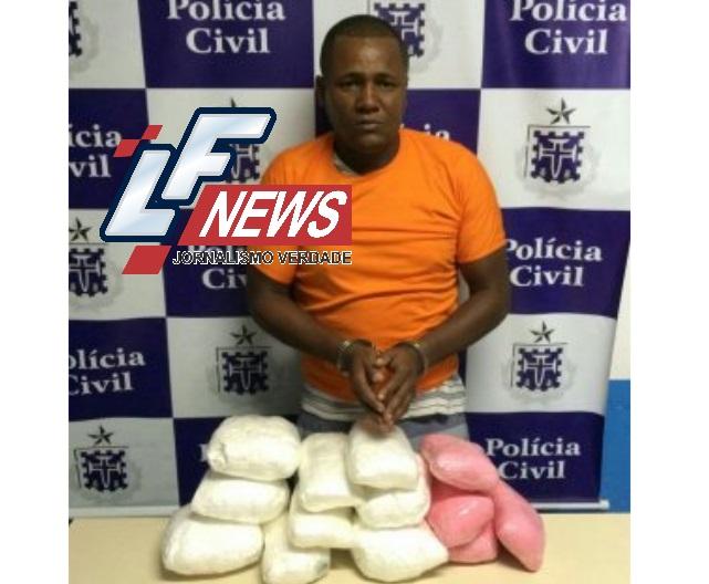 DTE/DRACO prende traficante de Lauro de Freitas com 15 Kg de pasta base da Cocaína