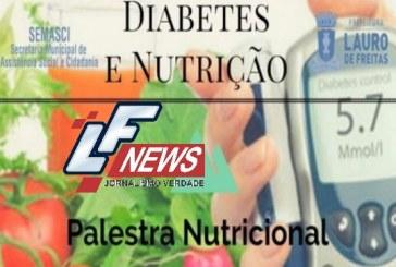 """Prefeitura de Lauro de Freitas promove palestra com o tema """"Diabetes e Nutrição"""""""