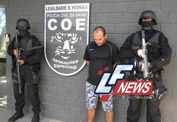 Polícia Civil captura um dos mais perigosos criminosos da Bahia
