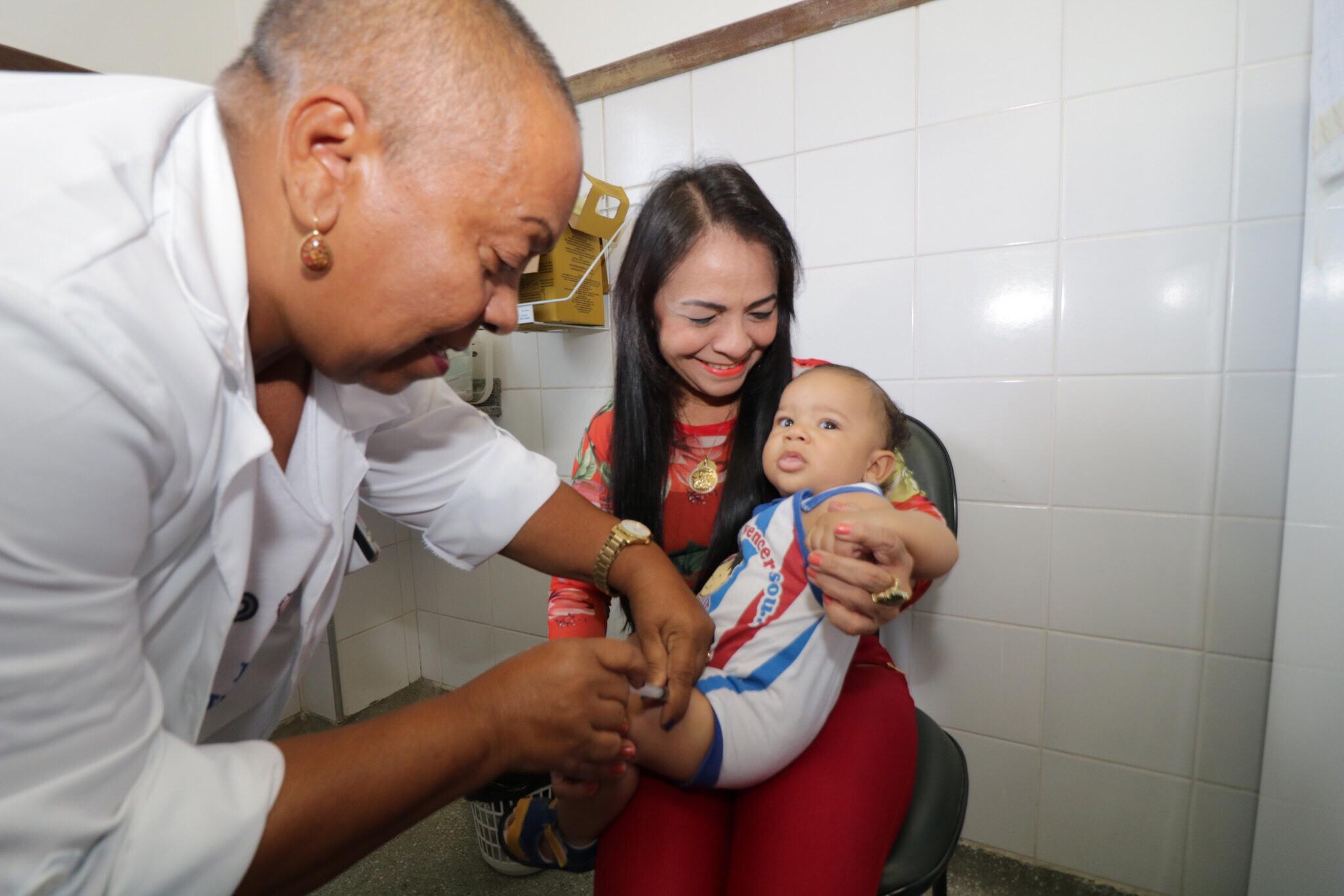 Dia D contra gripe H1N1 tem fluxo grande em Unidades de Saúde e postos provisórios de Lauro de Freitas