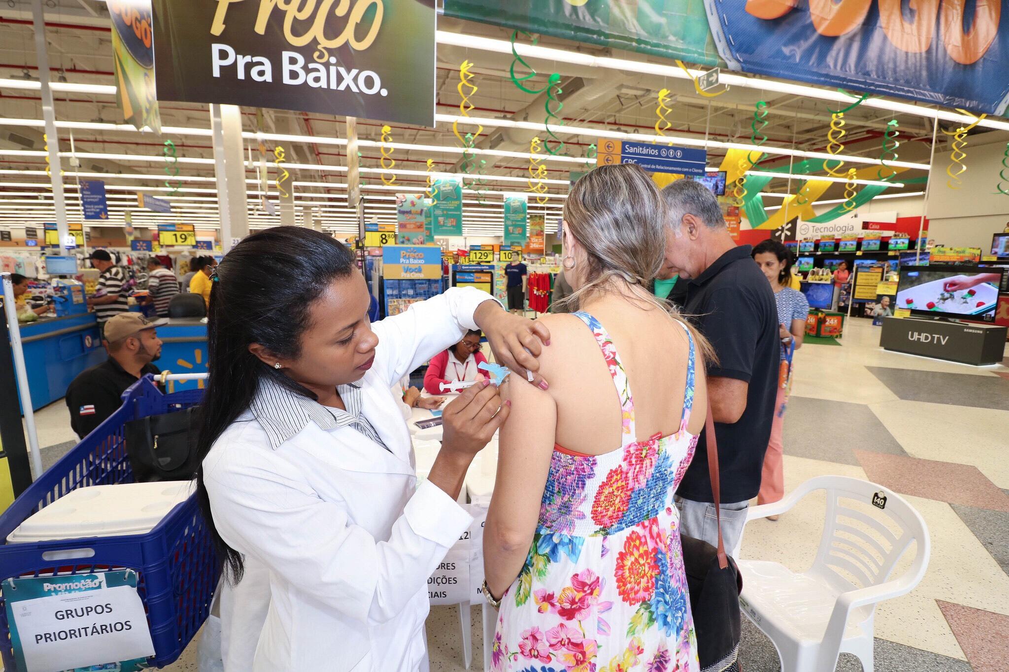 Lauro de Freitas alcança meta de vacinação contra H1N1