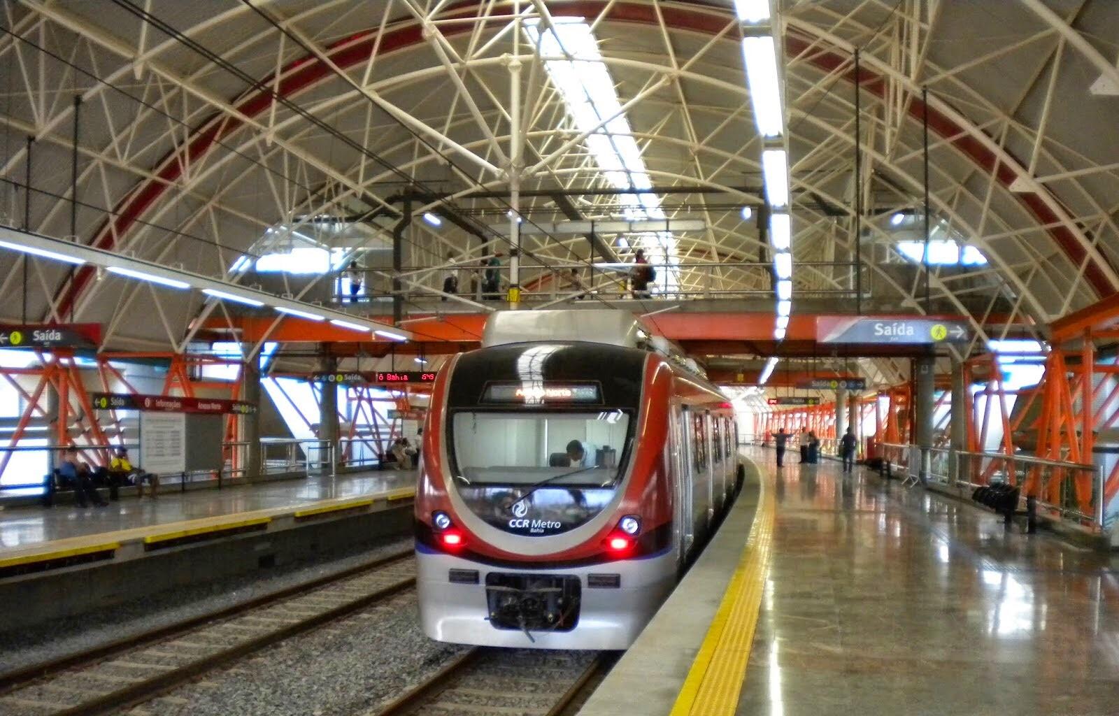 CCR Metrô Bahia realizará serviço em trecho da Linha 2 neste final de semana
