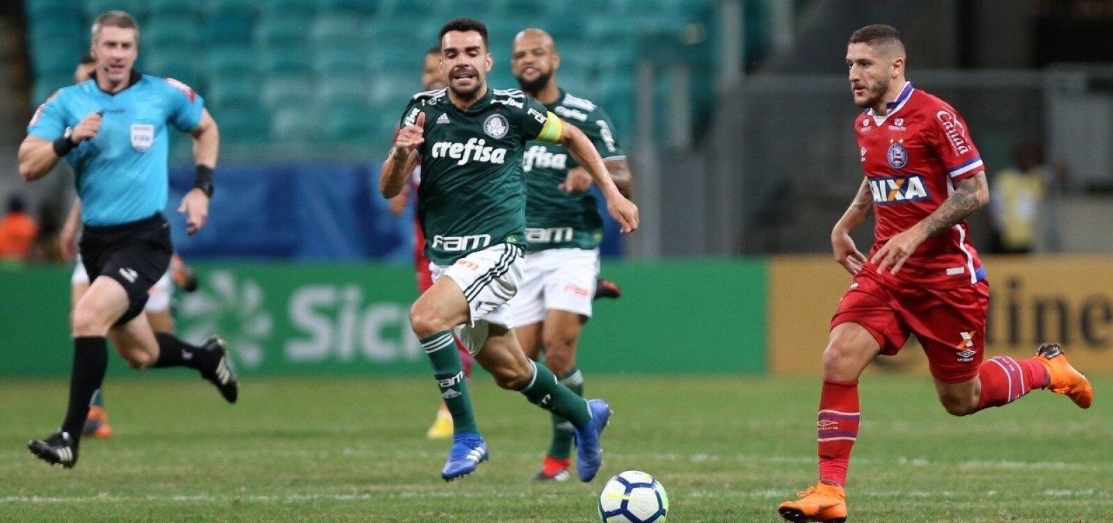 Bahia empata em 0 a 0 com o Palmeiras na Copa do Brasil; VAR rouba a cena