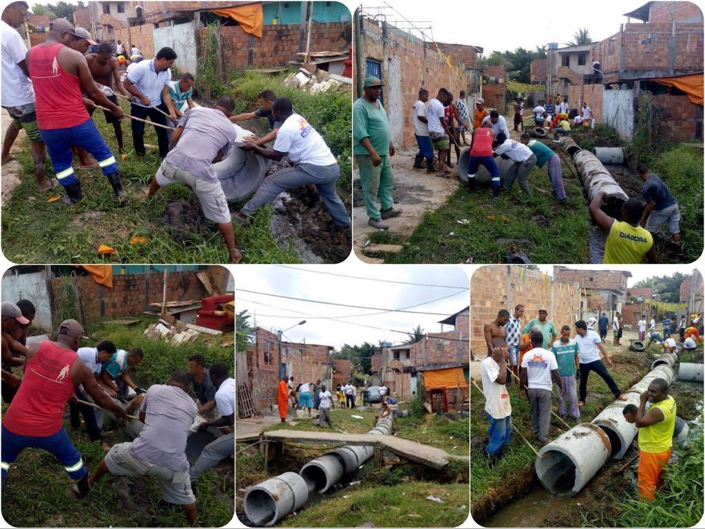 Manassés leva saneamento básico para a comunidade de Vida Nova