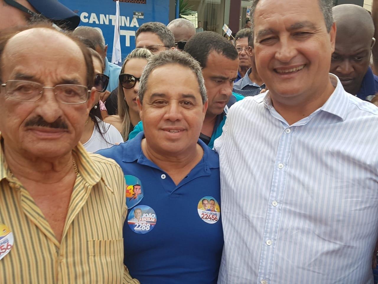 Sérgio Gomes faz grande festa para receber Rui Costa em Itabuna