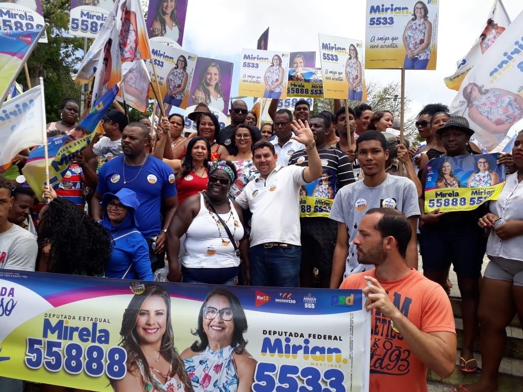 Alex Simões presente em mais uma caminhada do expresso M&M em Itinga