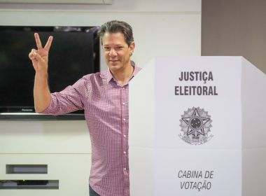 Citando Lula, Haddad fala em 'unir democratas do Brasil' para disputa do 2º turno