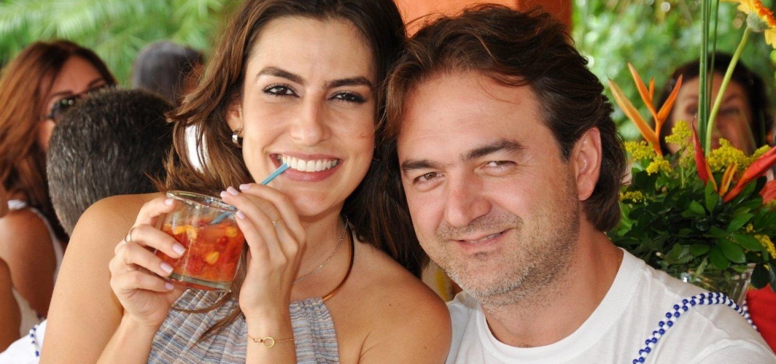 Joesley Batista e Ticiana Villas Boas passam fim de ano em Praia do Forte