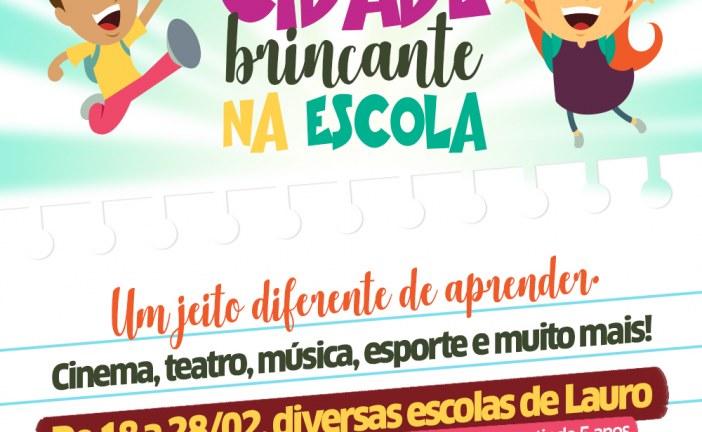 Educação promove Projeto Cidade Brincante em escolas municipais de Lauro de Freitas