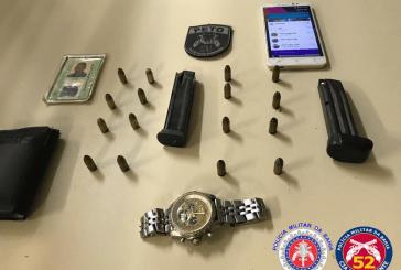 Polícia prende homem por posse ilegal de munições