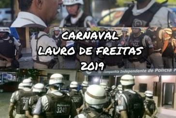 52ª CIPM sob o comando do Major Fabrício mantendo a ordem no Carnaval de Lauro de Freitas