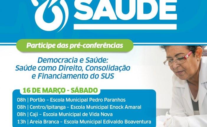 Saúde convida moradores de cinco bairros para pré-conferências neste sábado (16)