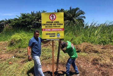 Não para! Prefeitura de Lauro de Freitas, através da Semarh e Sesp trabalhando às margens do Rio Sapato