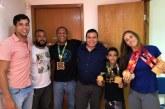 Campeões de Jiu-jítsu visitam gabinete de Isaac de Belchior e comemoram resultados