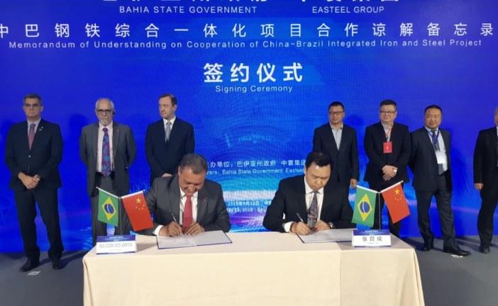 Rui Costa assina protocolo com empresa chinesa para investimento de U$ 7 bilhões na Bahia