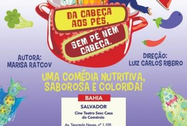 Espetáculo infantil Da Cabeça aos Pés, Sem Pé Nem Cabeça chega ao Sesc Salvador