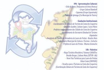 Prefeitura de Lauro de Freitas realiza Seminário de Regionalização do Turismo da Costa dos Coqueiros, nesta sexta, (10)