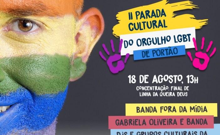 IIª Parada Cultural do Orgulho LGBT de Portão é realizada neste domingo (18)