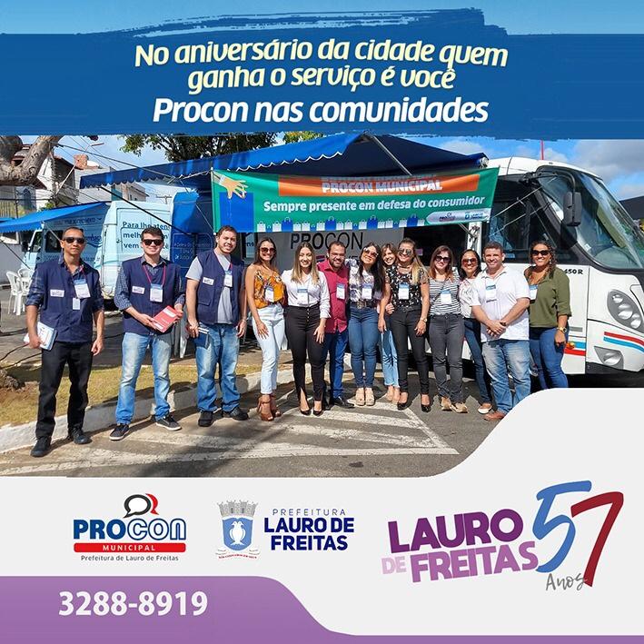Procon Lauro de Freitas agradece aos parceiros