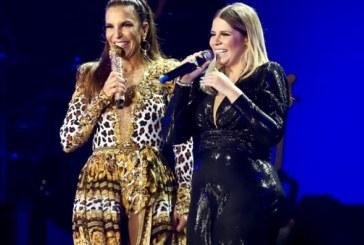 Vídeo: Ivete quase é barrada por segurança ao invadir palco de Marília Mendonça