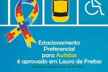 Autistas terão direito a vagas de estacionamento preferenciais em Lauro de Freitas