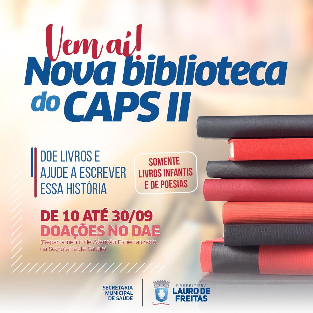 CAPS II promove campanha para doação de livros infantis e de poesia