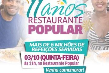 Restaurante Popular de Lauro de Freitas comemora 11 anos com mais de seis milhões de refeições servidas
