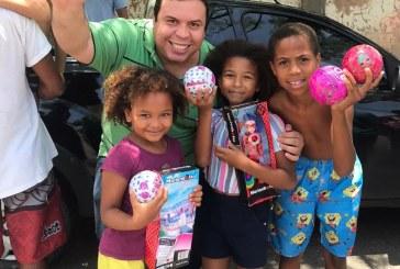 Vereador Isaac de Belchior comemora o Dia das Crianças em Lauro de Freitas