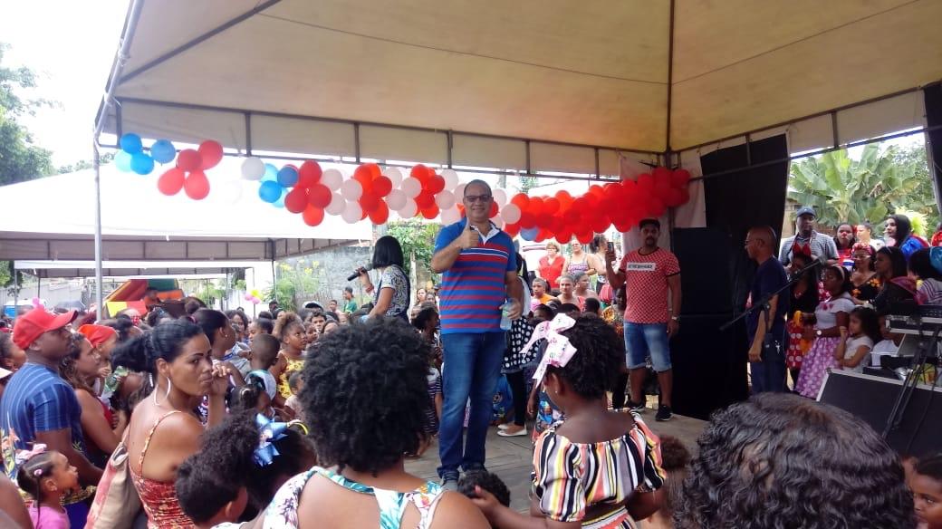 Vereador César realizou mais um grande Dia das Crianças em Itinga