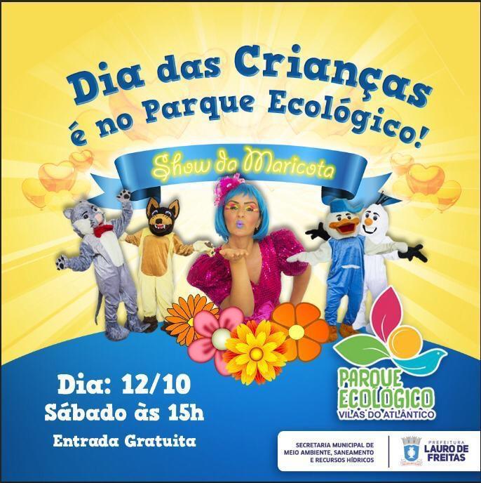 Prefeitura através da Semarh, fará uma programação especial no Parque Ecológico para celebrar o Dia das Crianças