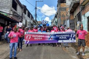 USF do Tarumã realizou a sua 1ª Caminhada Outubro Rosa e Novembro Azul