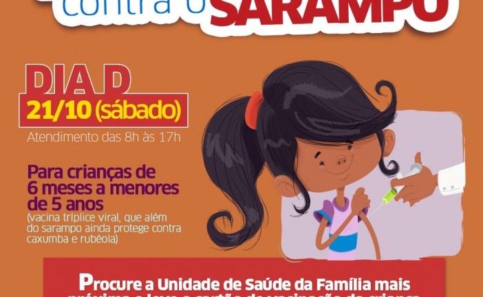 Dia D de Vacinação contra sarampo mobiliza Lauro de Freitas neste sábado (19)